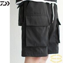 Daiwa дышащие рыболовные шорты для походов, Мужская однотонная трикотажная быстросохнущая одежда, подходит больше, чем обычные хлопковые рыбий штаны, весенние