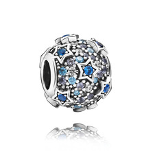 New 925 Sterling Silver Beads Elevated Stars Pave Charms fit Original Pandora Bracelets Women DIY Jewelry 2020 spring new series 100% 925 sterling silver beads boy teenager charms fit original pandora bracelets women diy jewelry