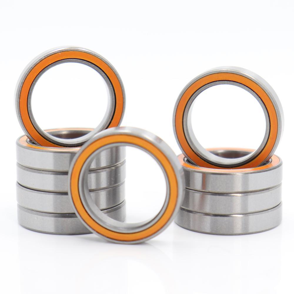 Orange 6700RS Double Metal Rubber Sealed Ball Bearing 10PCS 10x15x4mm