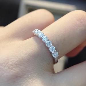Image 3 - Anillo romántico de plata 925, joyería de moissanita, anillo de aniversario de fiesta de boda de corte excelente redondo