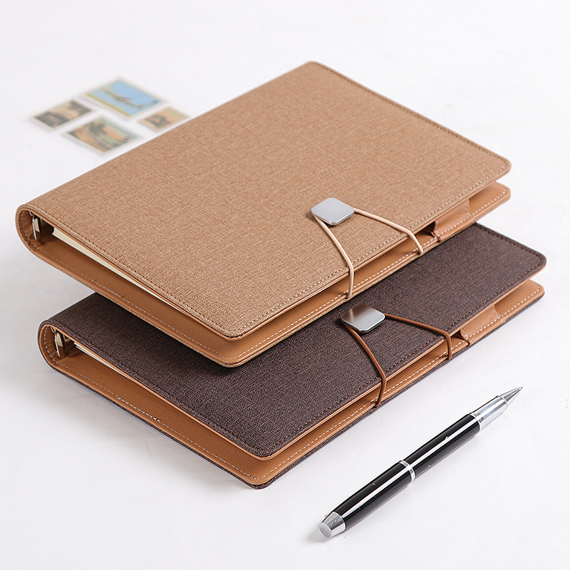 Business High-grade Meeting Notebook Spiral 6 Holes Diary Planner Agenda Thicken Filofax Cute A5 Personal Diary Girl's Gift