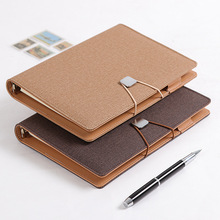 Business High-grade Meeting Notebook Spiral 6 Holes Diary Planner Agenda Thicken Filofax Cute A5 Personal Diary Girl's Gift ppyy new personal pocket organiser planner filofax diary notebook pu leather cover