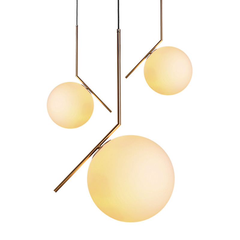 Modern Style Living Room Bedroom Minimalist Restaurant Pendant Light Nordic Clothing Decoration Glass Ball Pendant Lamp Bed