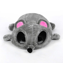 2019 new waterproof gray mouse shape bed cats small dogs cave removable  kisses background cat house for