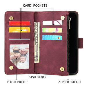 Image 4 - Multifunction Zipper Flip Leather Etui for Coque Samsung M30S Case Wallet Cover for Samsung Galaxy M21 M30 S M 21 30 M 30S Case