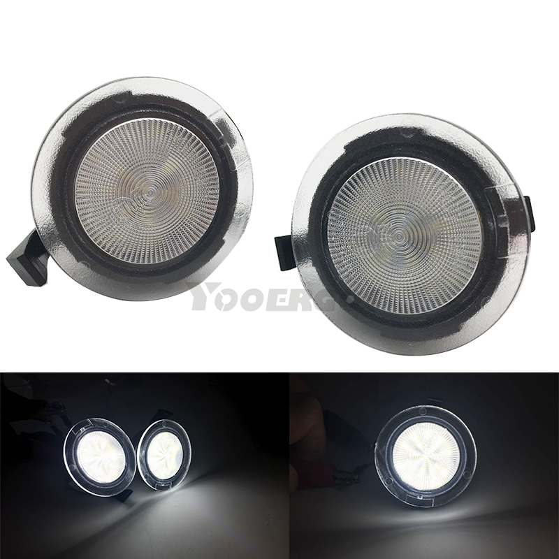 Pair Side <font><b>Mirror</b></font> Puddle Lights For <font><b>ford</b></font> Edge Fusion Flex <font><b>Explorer</b></font> Mondeo Taurus F-150 Expedition Super bright Auto Lamp image