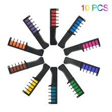 6/10Color Set Temporary Hair Chalk Color Comb Dye Cosplay Washable Hair Color Comb For Party Makeup Tool