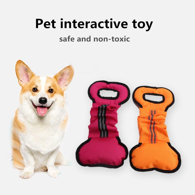 Новые игрушки для собак из ткани Оксфорд с костями, Интерактивная палочка для укуса, жевательные игрушки для домашних животных
