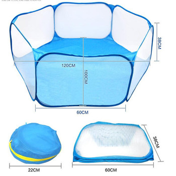 Pet Playpen Portable Pop Open Indoor / Outdoor Small Animal Cage Game Playground Fence for Hamster Chinchillas Guinea Pigs 4