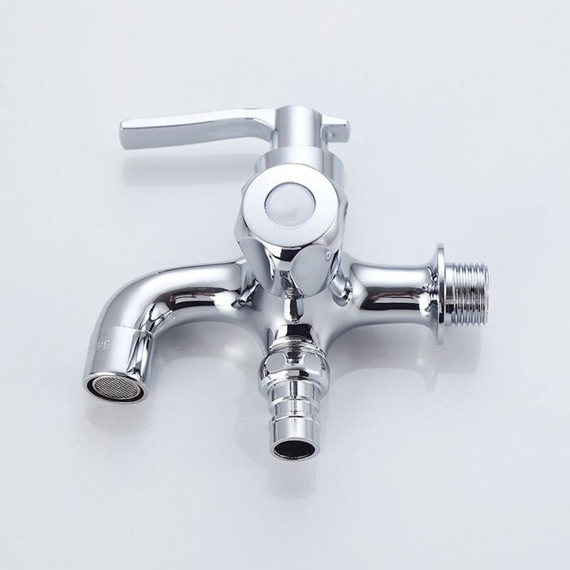 Латунная стиральная машина кран для воды настенный 1 в 2 из водопроводной воды Ванная комната сад Швабра бассейн вода двойной выход кран
