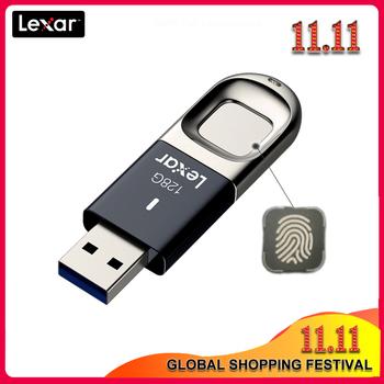 100 oryginalny Lexar rozpoznawanie linii papilarnych USB 128GB 64GB 32GB F35 USB 3 1 flash drive 150 MB S szybki pendrive tanie i dobre opinie Usb 3 0 22 8g Klucz samochodowy Palec Pióro Prostokąt Lexar F35 Mar-13 Z tworzywa sztucznego Szyfrowane 100 Origianl Lexar usb flash disk