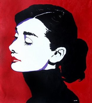 100% Hand-painted Audrey Hepburn Wall Décor Oil Painting on Canvas Hepburn Wall Art for Living Room Bedroom Home Decorations