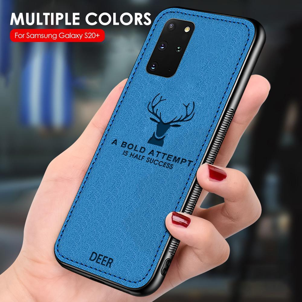 Vintage Deer Pattern Case For Samsung Galaxy S20 Ultra S20 Plus M31 M21 A21S A11 M40 M30 M20 M10 A6 A8 Plus 2018 Silicone Cover