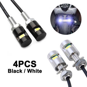 Lamp Number-Light License-Plate-Lights Screw Auto Motorcycle SMD Car LED 12V 5630 4pcs