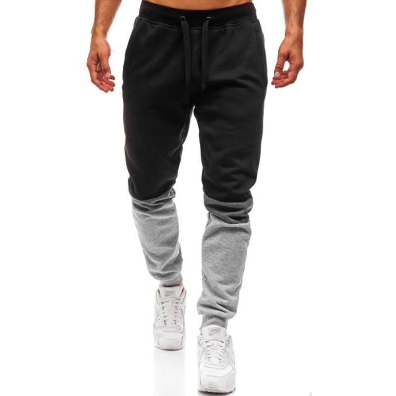 AliExpress Men'S Wear MEN'S Sports Pants Joint Fashion Design Large Size Athletic Pants K38