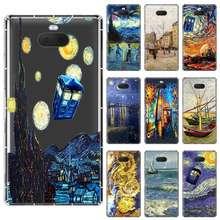 Van Gogh Mok Vincent Die Van Gogh Art Soft Tpu Case Voor Sony Xperia X Xa XA1 XA2 XA3 Xz XZ1 XZ2 XZ3 XZ4 L1 L2 L3 Plus Compeact