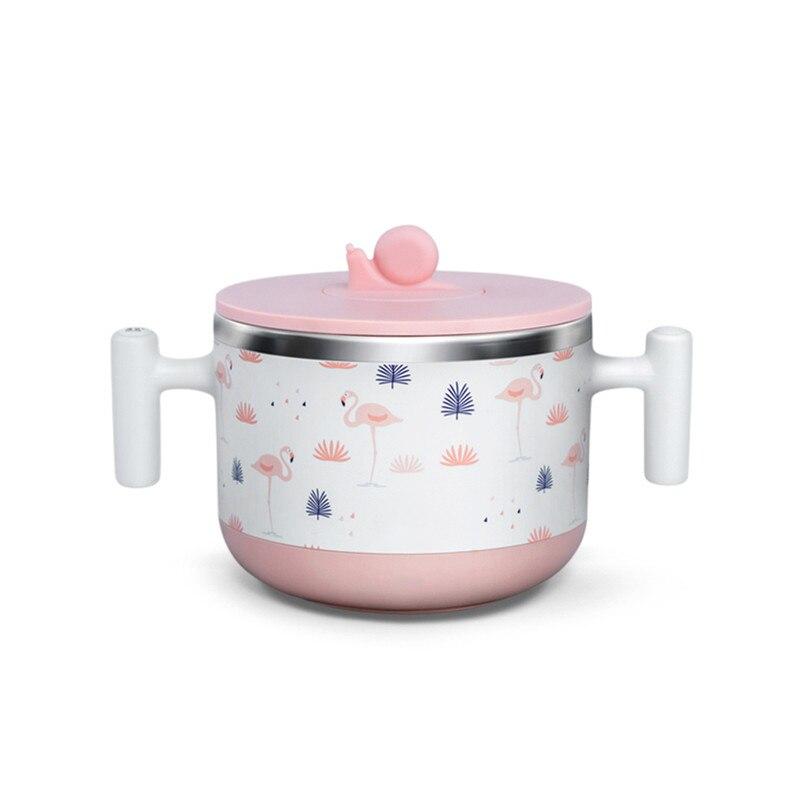Thermostat Intelligent bébé nourriture bol thermostatique alimentaire lait complément chauffe-biberon 440ml en acier inoxydable Liner 5 V/2A