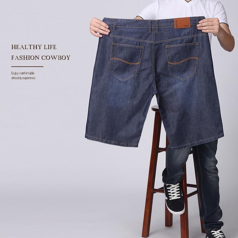 2018 Summer Men Loose-Fit Plus-sized Shorts Lard-bucket Fat Denim Shorts Large Size Summer Trousers