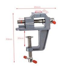 Abrazadera de Banco de mesa de aleación de aluminio de 35MM Mini banco de tornillo de mesa para la reparación fija del molde de artesanía DIY herramienta