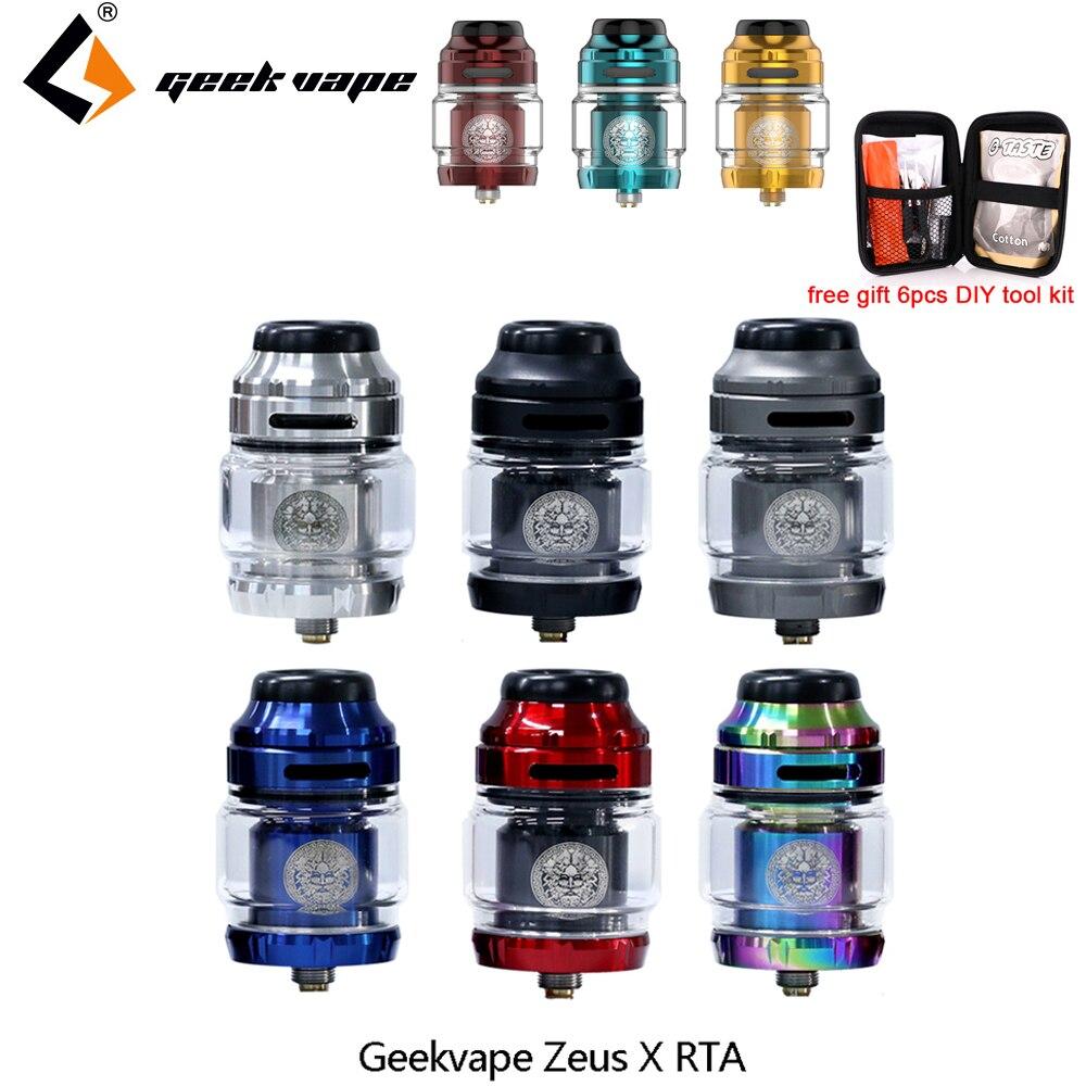 Réservoir de Vape Geekvape Zeus X RTA 4.5ml capacité du réservoir avec 810 Delrin pointe d'égouttement atomiseur de cigarette électronique vs zeus double/AMMIT MTL