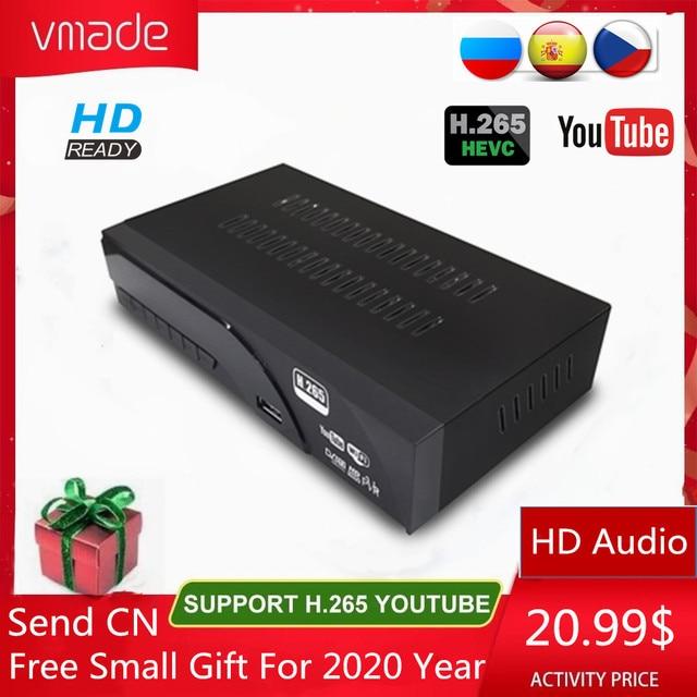 Vmade DVB T2 HD 1080P דיגיטלי יבשתי מקלט H.265 / HEVC DVB T מקלט טלוויזיה תמיכה M3U Youtube MPEG4 סטנדרטי סט תיבה עליונה