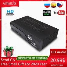 Vmade DVB T2 hd 1080p receptor terrestre digital h.265/hevc dvb t tv sintonizador suporte m3u youtube mpeg4 padrão conjunto caixa superior