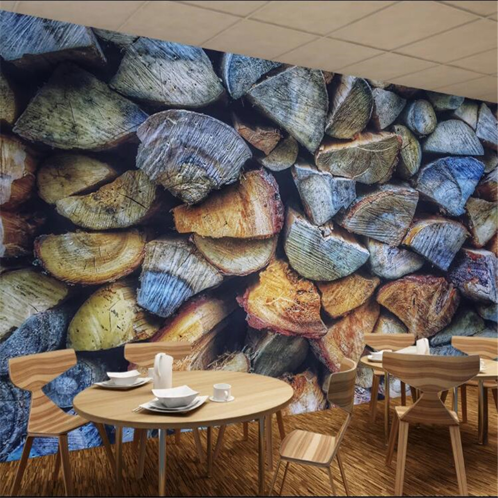 Milofi custom high-end 3d three-dimensional mural stone wall culture brick wall wallpaper background wall