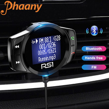 Phaany FM 송신기 자동차 블루투스 핸즈프리 자동차 MP3 오디오 플레이어 핸즈프리 토크 Led 대형 스크린 디스플레이 듀얼 USB 차량용 충전기