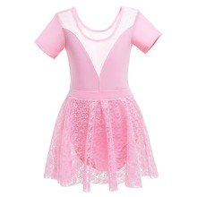 Children Kids Girls Tulle Ballet Dance Wear Concise Gymnastics Leotard Dancing Tutu Dress Ballerina Costume Dancewear 3-12T цены