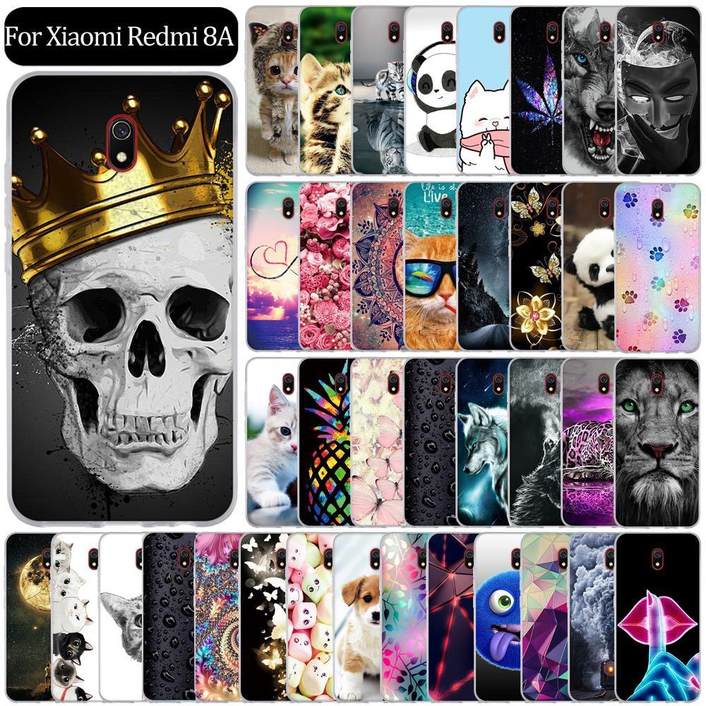 Silicon Case For Xiaomi Redmi 8a Redmi8A Case Back Cover Coque Funda Shell Soft TPU Cute Cartoon Phone Bag Bumper Protective