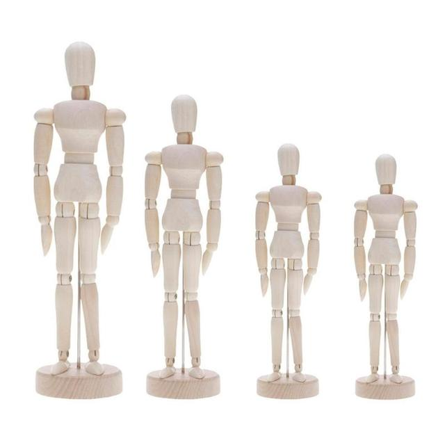 Wooden Artist Movable Limbs Male Wooden Toy Figure Model Mannequin bjd Art Sketch Draw Action Toy Figures 6