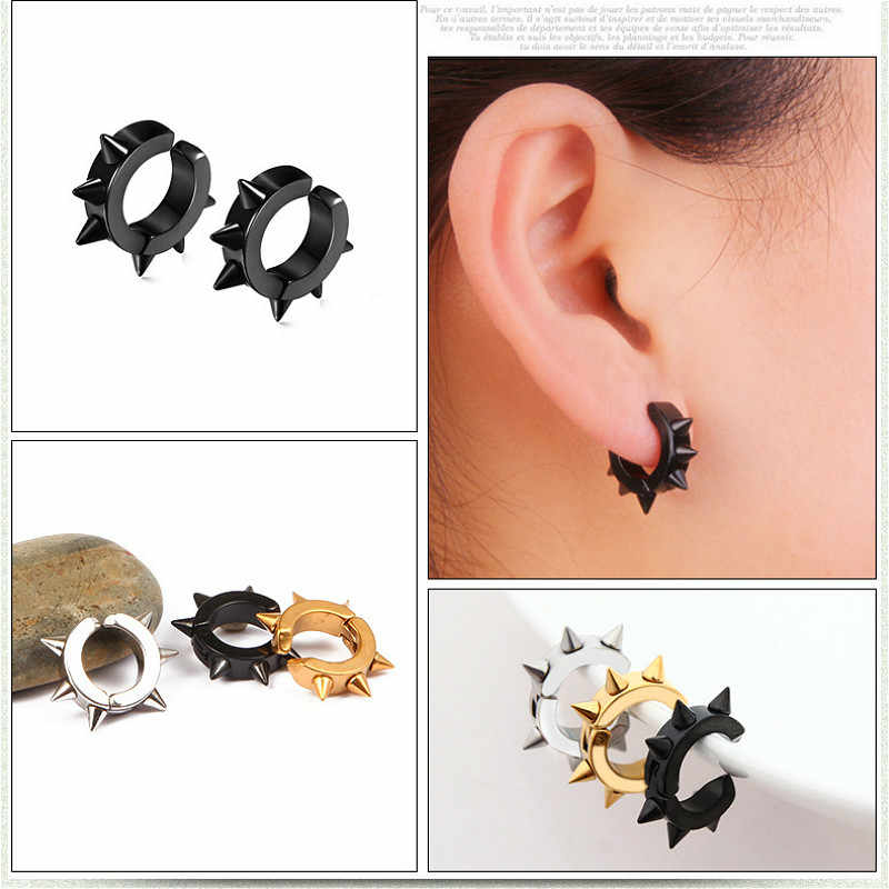 1pcs Titanium Fashion Clip Earrings Man Women Party Favors Jewelry Makeup Party Accessories Gifts Souvenir Children No Pierced