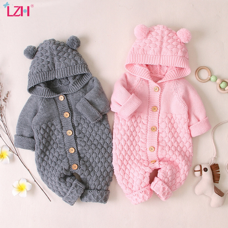 LZH Baby Knit Rompers For Baby Boys Jumpsuit Autumn Winter Newborn Baby Girls Clothes Costumes Kids Overalls For Infant Clothing|Rompers| - AliExpress