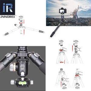 Image 3 - RT75C المهنية 10 طبقات ألياف الكربون ترايبود Monopod القياسية بانورامية التصوير قوس ل DSLR الرقمية كاميرا فيديو
