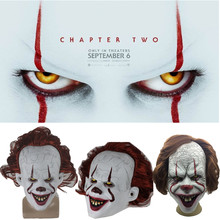 Latex Full Face Halloween 2019 Stephen King's It: Chapter Two Pennywise Clown Cosplay Mask Props(China)