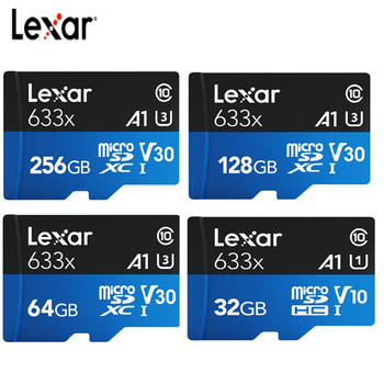Lexar Micro SD Card TF 32GB/64GB/128GB/256GB/512GB 633X 95mb/s SDXC SDHC Memory MINI TF Card Reader Uhs-1 For Drone Gopro Sport