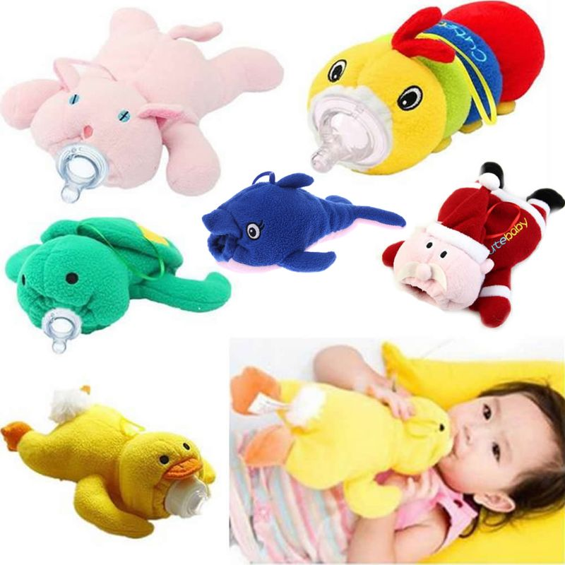Portable Baby Feeding Cute Bottle Plush Pouch Covers Nursing Keep Warm Holders Case New