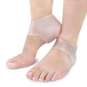 Heel-Sock Support-Protector Cracked Transparent Gel-Care Moisturizing-Gel Foot-Skin Silicone