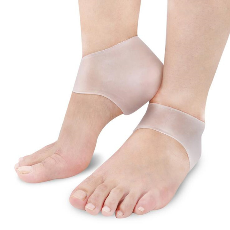 Transparent Silicone Moisturizing Gel Heel Sock Cracked Foot Skin Gel Care Support Protector Socks Peds