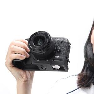 Image 3 - UURig Arca שחרור מהיר L צלחת עבור Canon M6 Mark II עם קר נעל 1/4 בורג כדי מיקרופון
