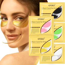 24K Gold Crystal Collagen Eye Mask Eye Patches for Eye Care Remove Dark Circles Anti-Aging Wrinkle Gel Eye Pads Sheet Eye Masks collagen crystal eye mask 60pcs anti wrinkle remove eye bags dark circles sleep masks green gel eye patches skin care