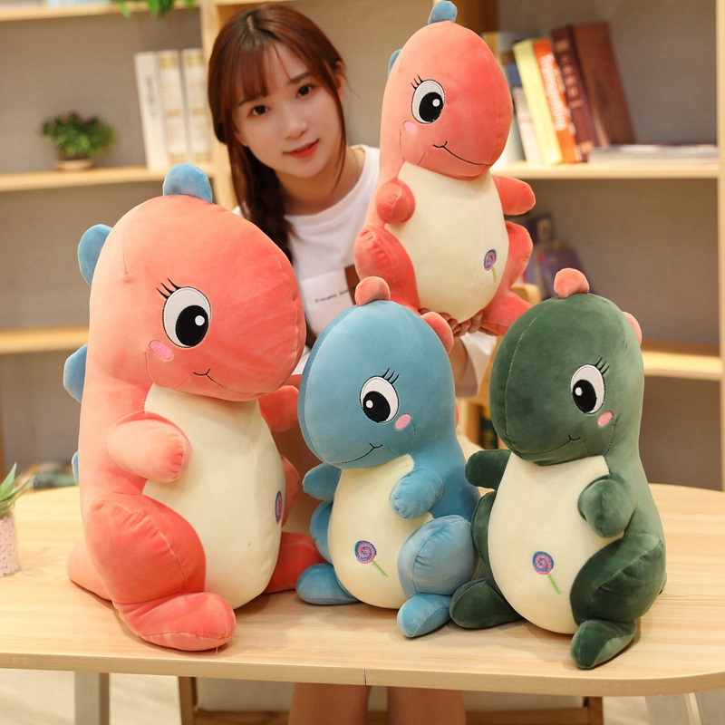 Lovely 3 Colors Creative Simulation Dragon Plush Toy Soft Cartoon Dinosaur Stuffed Pillow Doll Baby Appease Toy Children Gift