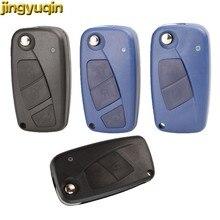 Jingyuqin télécommande voiture porte-clés coquille pour FIAT Iveco Punto Ducato Stilo Panda idée Doblo Bravo 2/3 boutons porte-clés