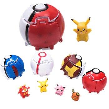 אנימה פוקימון כדור פיקאצ 'ו כיס מפלצות קוספליי מוקפץ לתקוע כדור לבזור ילדים קריקטורה חמוד צעצוע אבזרי תלבושות אבזרים