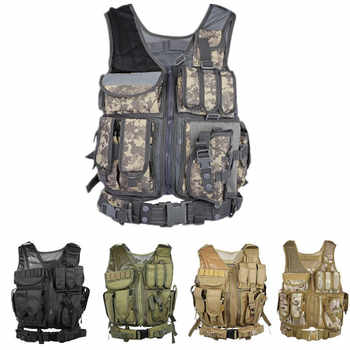 Outlife Men Military Tactical Vest Paintball Camouflage Molle Hunting Vest Assault Shooting Hunting Plate Carrier With Holster - DISCOUNT ITEM  20% OFF All Category