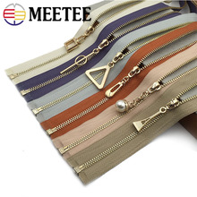 Meetee 60cm 3# Open-End Metal Zippers DIY Auto Lock Eco-friendly Zipper For Sewing Spring Autumn Clothes Accessories