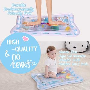 Image 3 - Baby Kids Water Play Mat Toys Inflatable Thicken PVC Infant Tummy Time Playmat Toddler Activity Play Center Water Mat for Babies