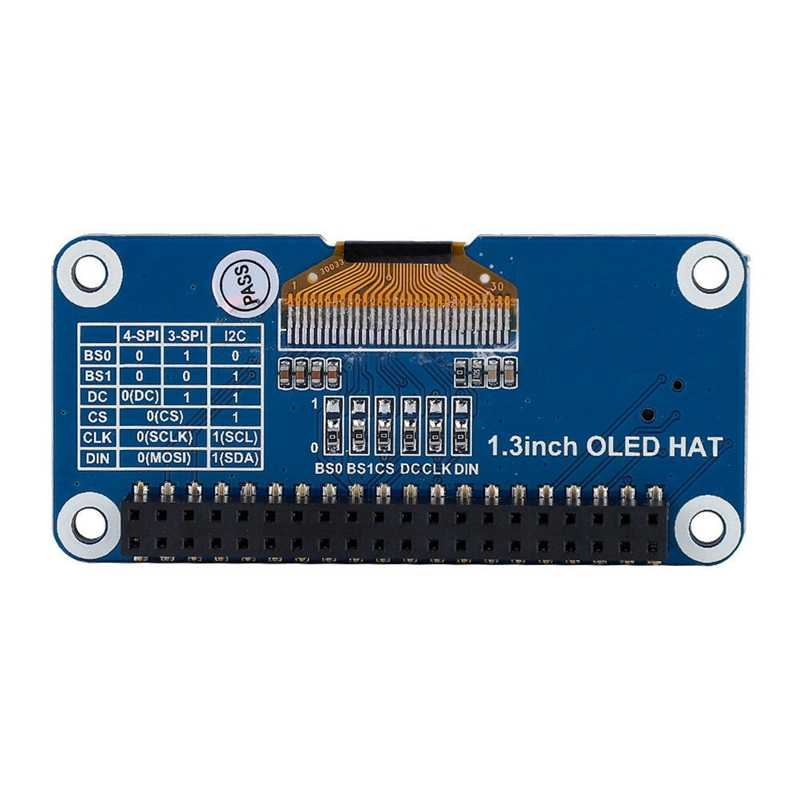 Waveshare 1.3 Polegada oled display hat para raspberry pi 128x64 pixels com embutido controlador spi/i2c interface