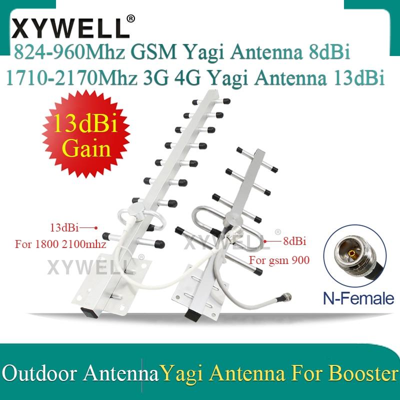 8dBi/13dBi Gain 3g 4g GSM Antenna 2g 3g Yagi Antenna 2g 3g 4g 900/1800/2100 Outdoor Antenna 2G 3G 4G LTE External Yagi Antenna