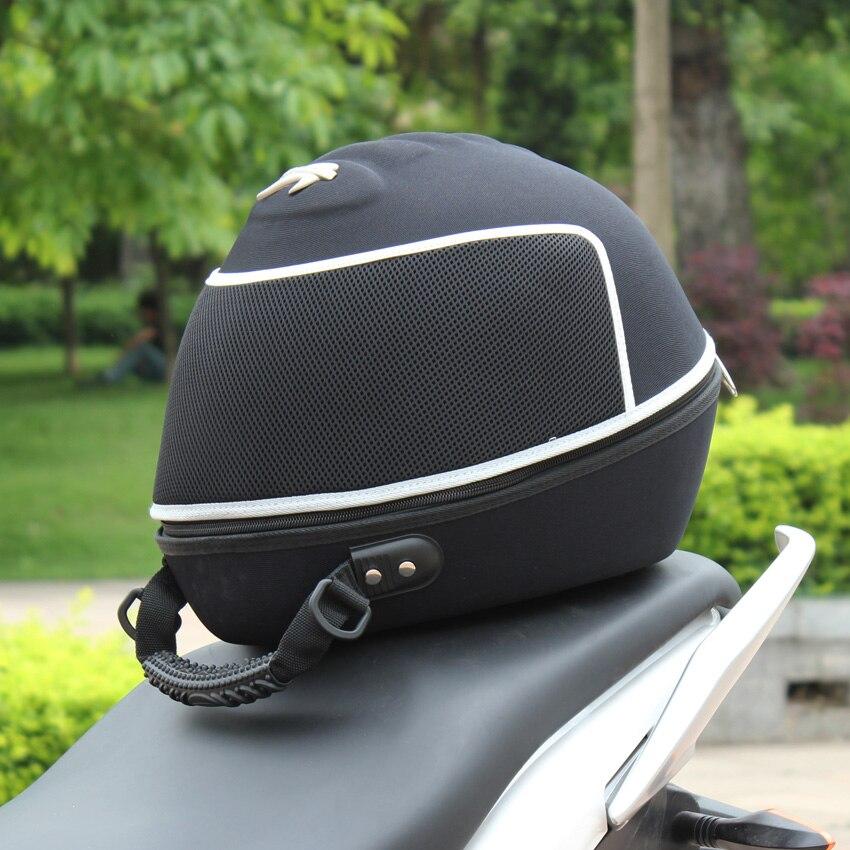 Профессиональная Байкерская многофункциональная мотоциклетная Водонепроницаемая натуральная сумка на половину шлема, сумка для оборудов...